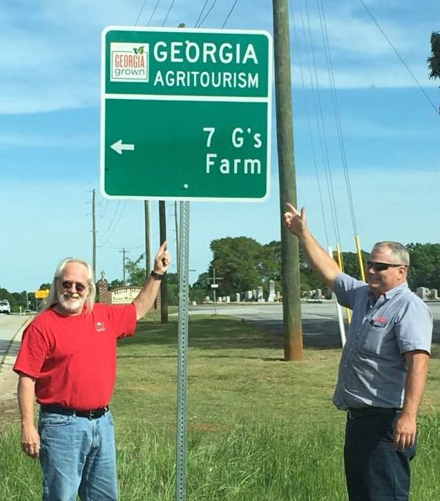 7 G's Agritourism Sign